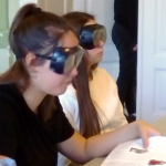 Csökkent látás szimulátor a gimnazistákon.