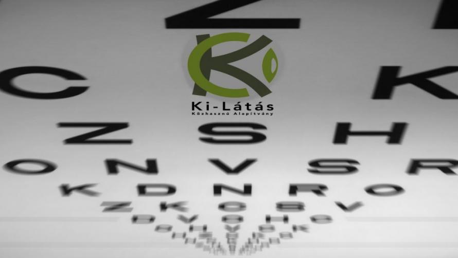 A látás élességének méréséhez szolgáló tábla felülnézetből